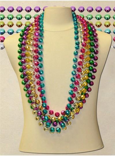 "48"" inch 18mm Assorted Globe Metallic Beads"