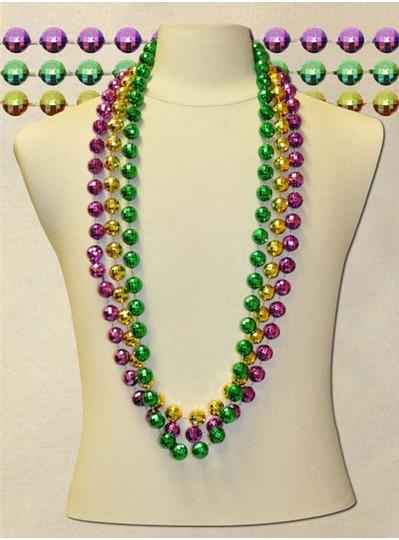 "48"" inch 18mm PGG Globe Metallic Beads"