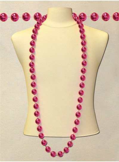"60"" Inch 22mm Hot Pink Bead"