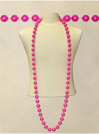 "72"" Inch 22mm Hot Pink Pearl Bead"