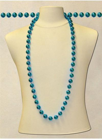 "48"" inch 18mm Turquoise Metallic Beads"