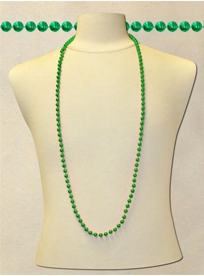 "48"" Inch 8mm Green Metallic Beads"