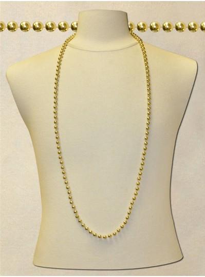 "48"" Inch 8mm Gold Metallic Beads"