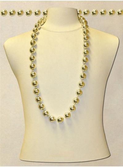 "42"" inch 22mm Silver Metallic Beads"