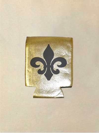 Fun Accessories - Fleur De Lis Black & Gold Koozies