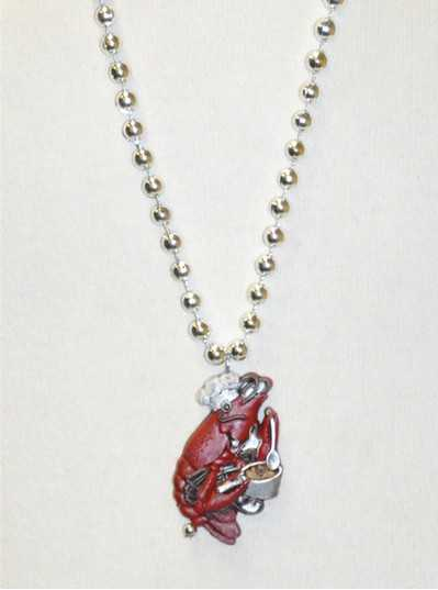 Creatures & Critters Cooking Crawfish with Silver Metallic Bead