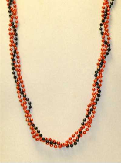 "39"" Twist Beads Black & Orange"