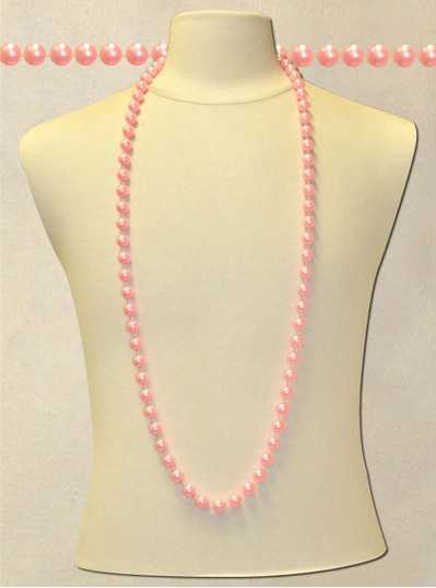 "48"" Inch 12mm Light Pink Pearl Bead"