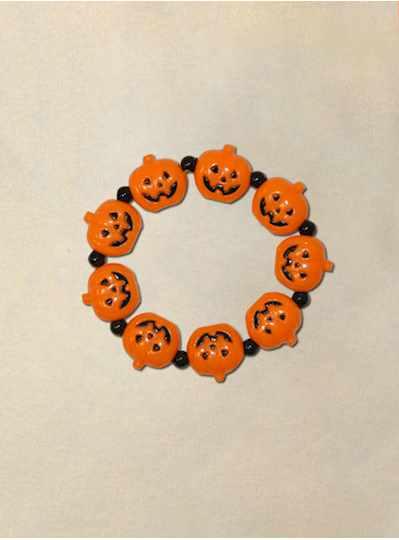 Wooden Skull Halloween Bracelet - Copy