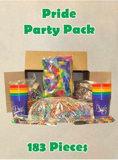 Pride Party Packs 183 Rainbow Items - Pack