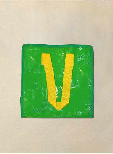 """9"""" x 9"""" Green 6 Pack Small Zip Bead Bags  - Pack"""