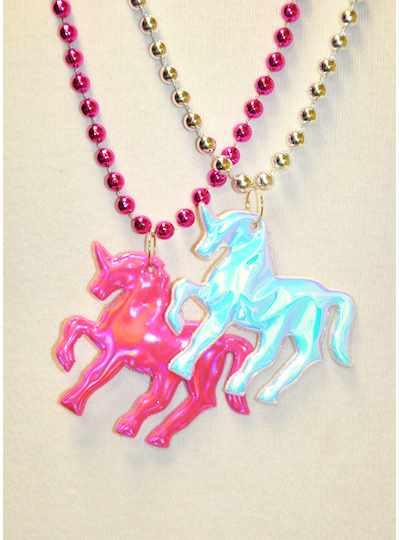 "33"" 7MM Prism Mermaid Tail On Pink Metallic Bead -"