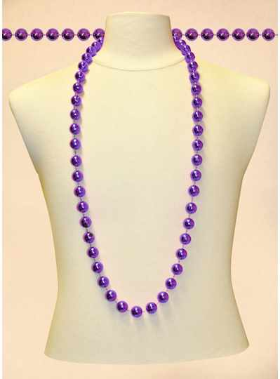 "48"" 18mm Round Metallic Purple Beads - DOZEN - 12"