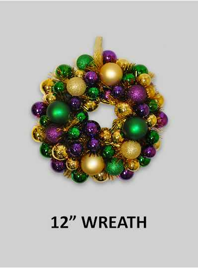 "Decorations - 16"" Foil Wreath - Copy"