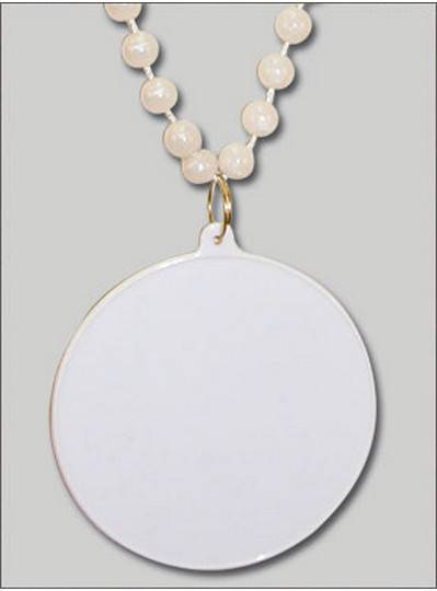 Do It Yourself Discs White Pearl Beads