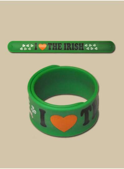 Fun Accessories - Irish Foam Slap Bracelet with Shamrocks - CLONED