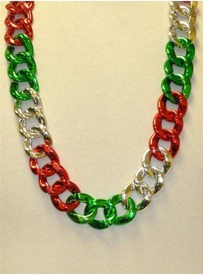 "36"" Twist Chain Section in Red, Green and Silver"