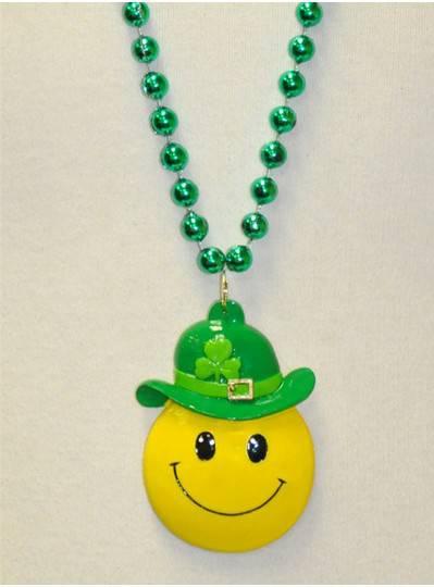 "36"" 10MM Smiley St. Patricks Day Bead"