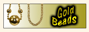 Gold Mardi Gras Beads